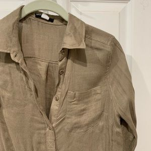 Brown long sleeve button up